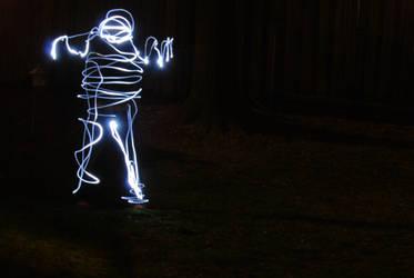 Awkward Light Burst- Light art