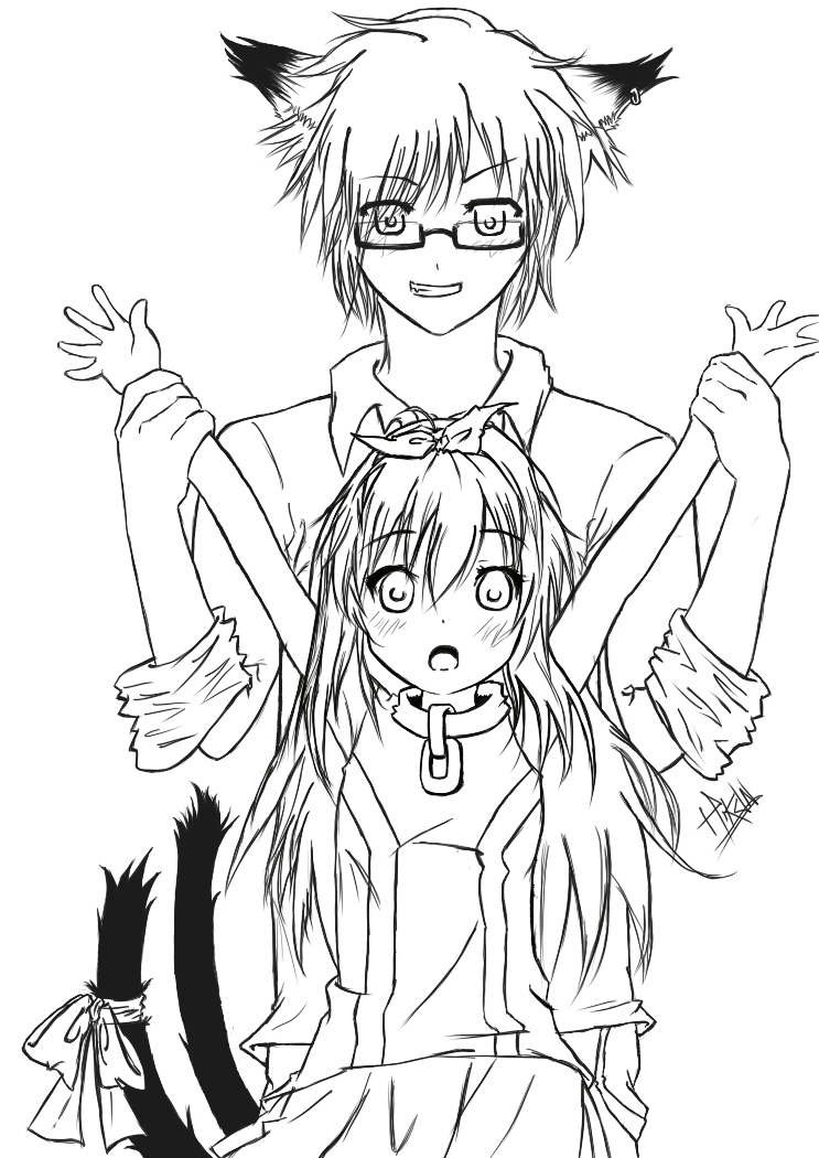 Perfecto Colorear Anime Parejas Chibi Componente - Dibujos Para ...