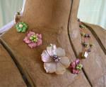 Asymmetrical Shell Flowers by ElegantlyEccentric