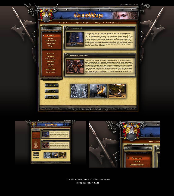 Guild Website Template By Karsten On Deviantart
