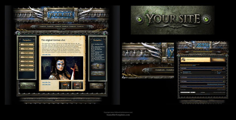 elves joomla and forumtemplate by karsten on deviantart