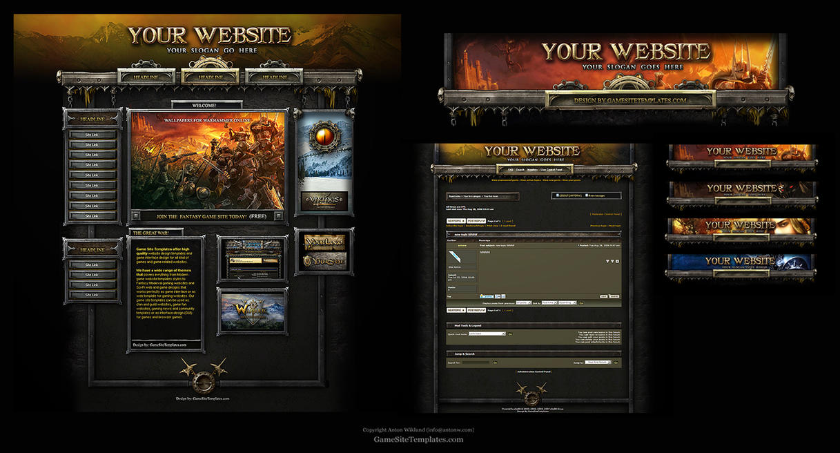 warhammer online web template by karsten on deviantart. Black Bedroom Furniture Sets. Home Design Ideas