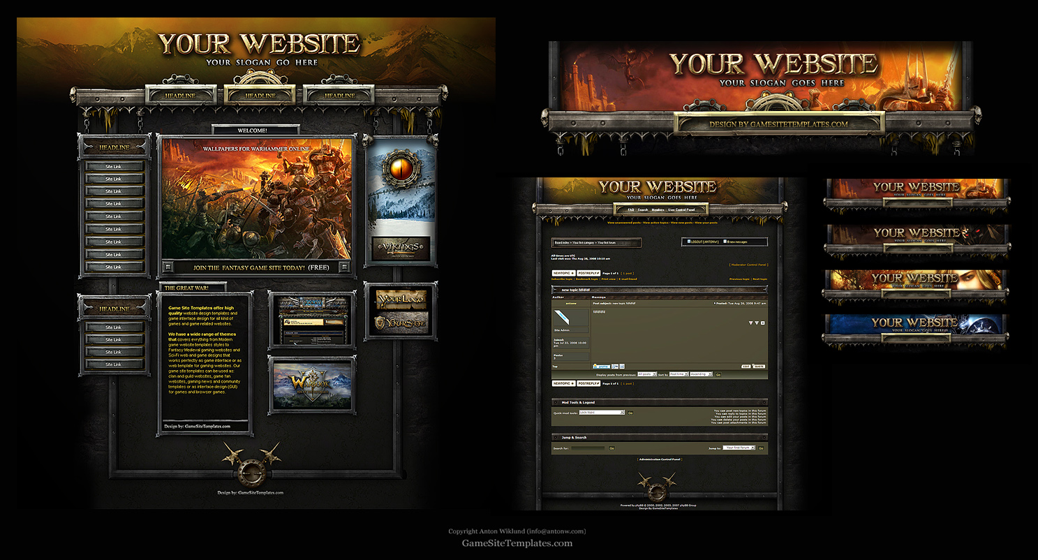 Warhammer Online Web Template By Karsten On Deviantart