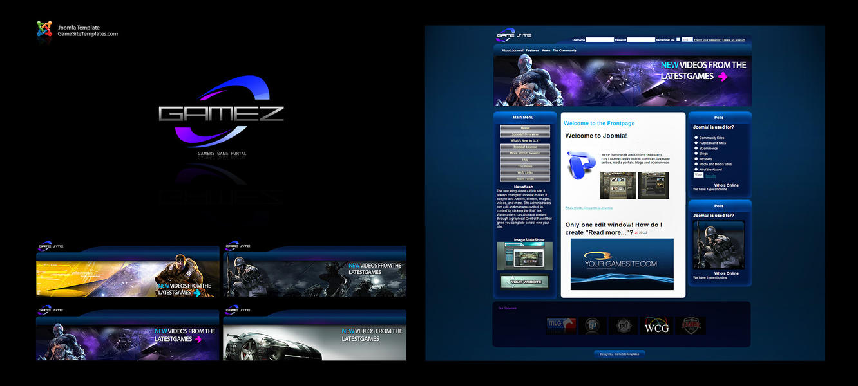 Modern Gaming Joomla Template by karsten on DeviantArt