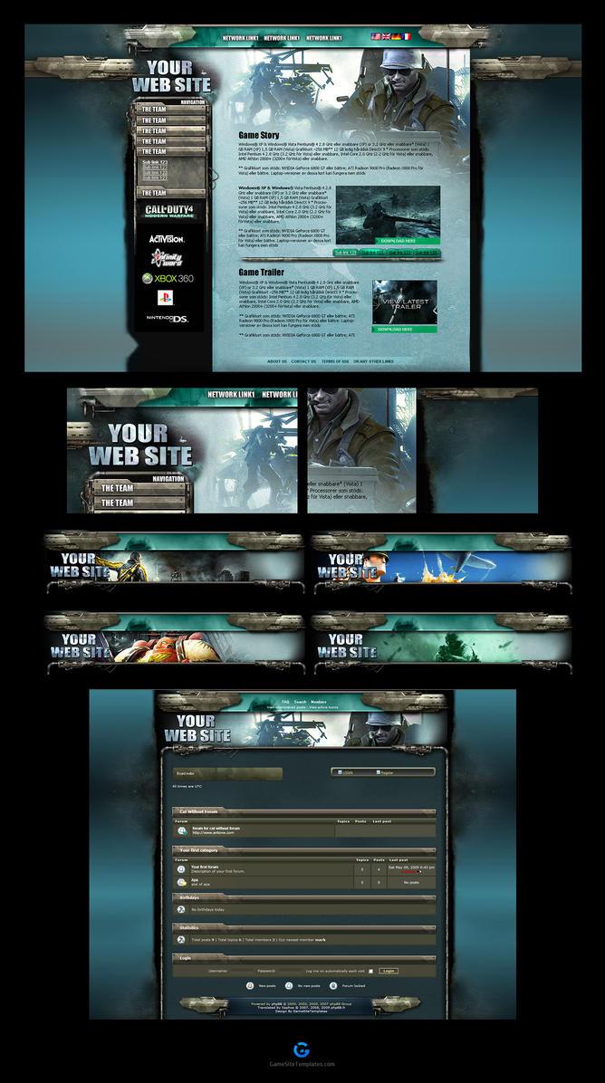 Battlefield Web Template Skin by karsten on DeviantArt