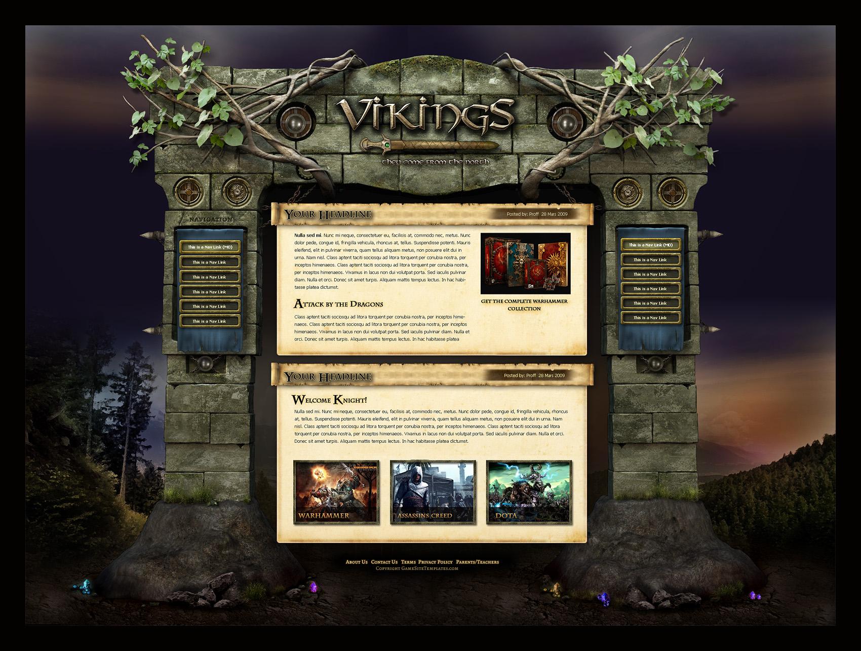 Fantasy Magic Website Template By Karsten Fantasy Magic Website Template By Karsten