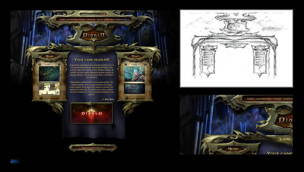 Diablo Interface Template