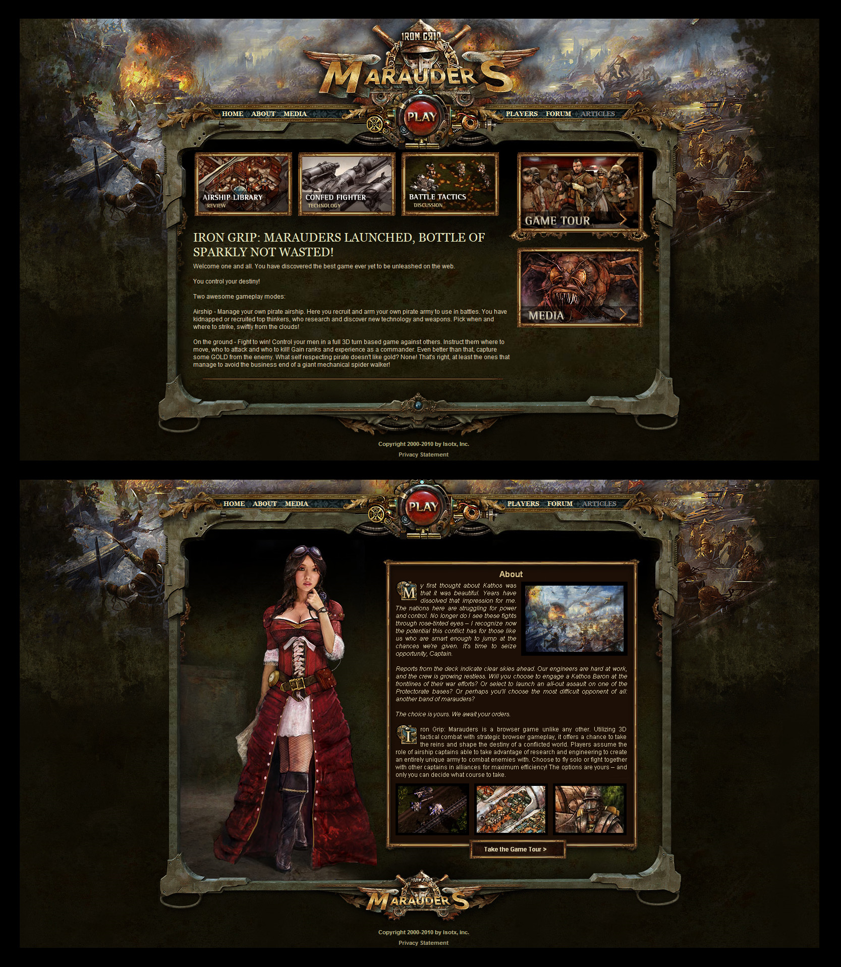 Marauders Game Site Design By Karsten On DeviantArt - Game design websites