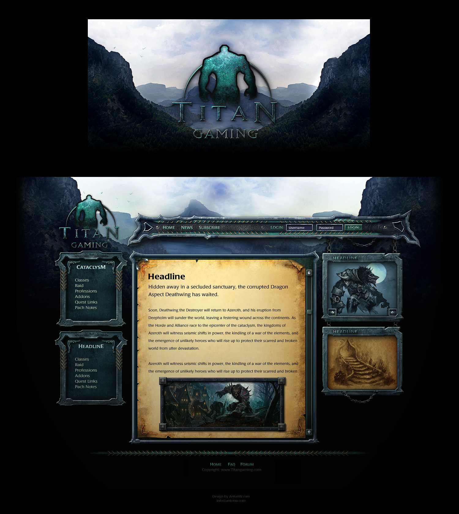 Game Site Templates - FANTASY by karsten on DeviantArt