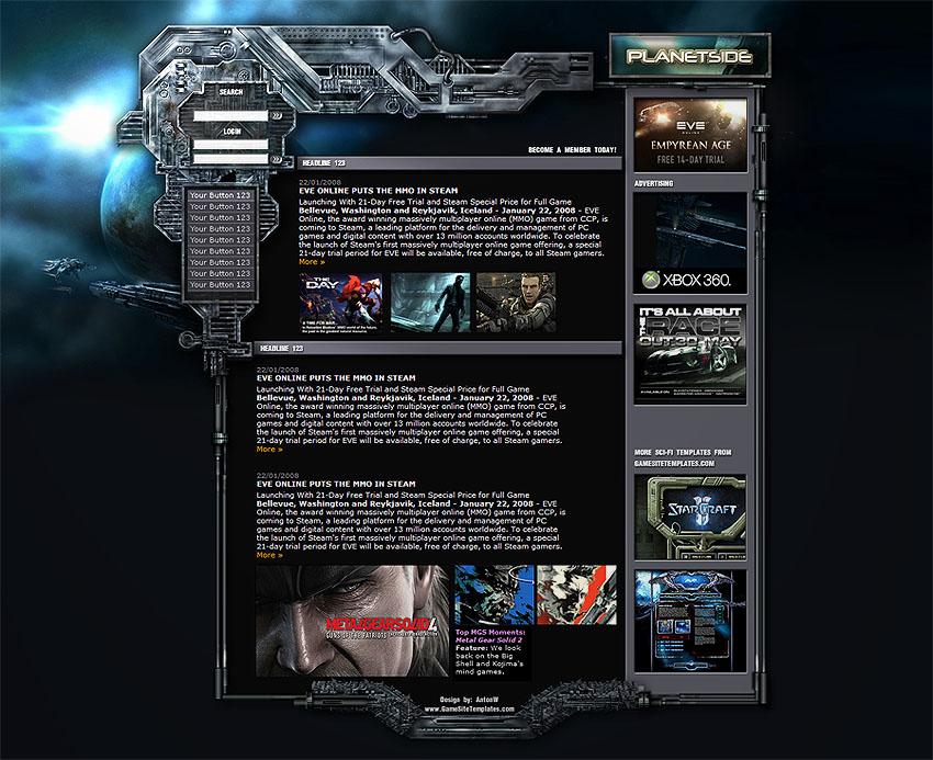 Eve Online Template by karsten on DeviantArt