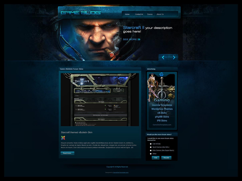 Gamers Blog Joomla Template by karsten