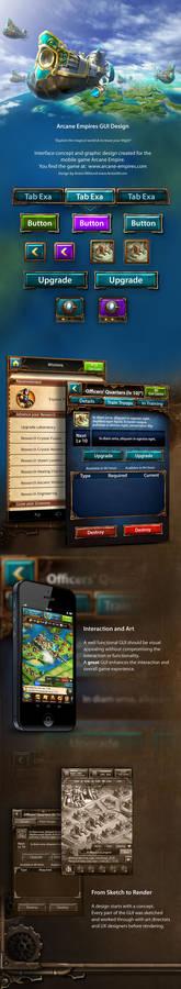 Arcane Empires Mobile Game GUI