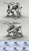 Heavy armed Robot by karsten