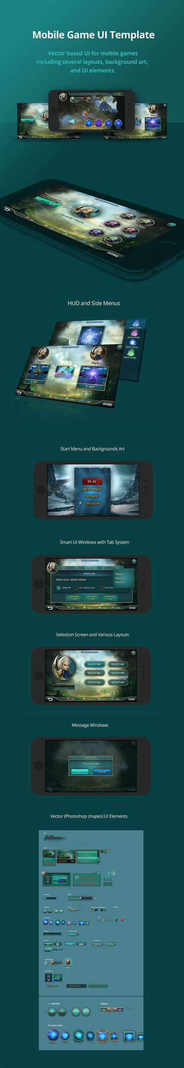 Mobile-game-ui by karsten
