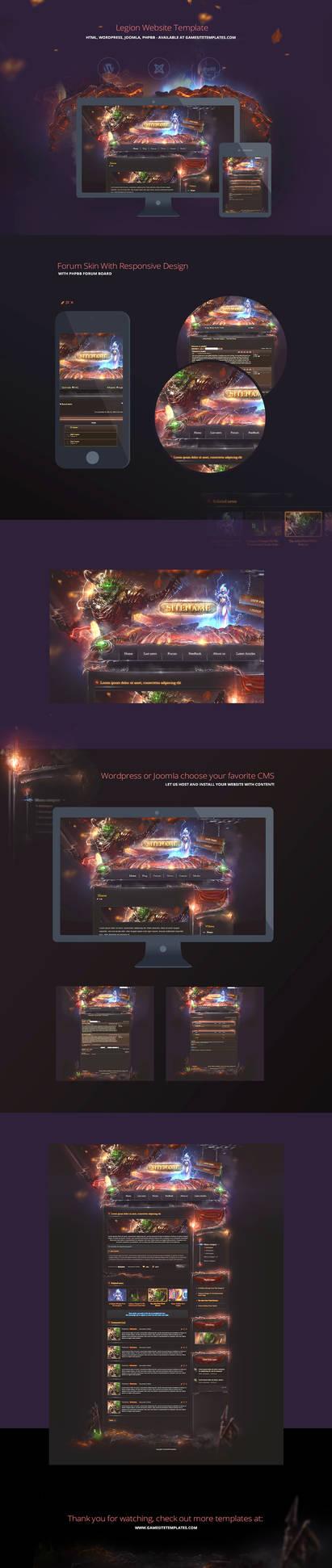 Legion Game Website Template