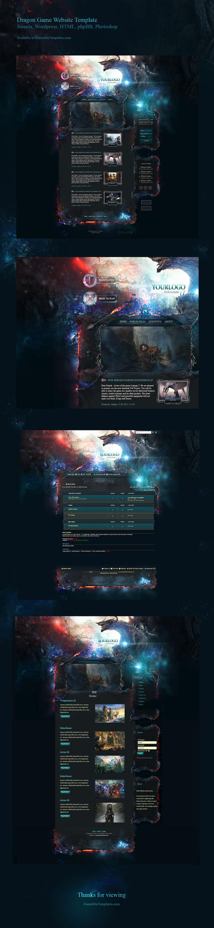 Dragon Game Website Template by karsten