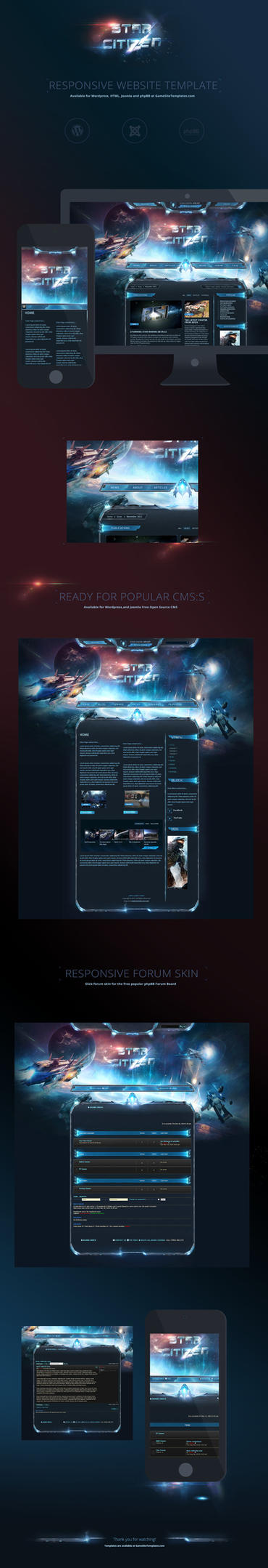 SciFi-StarCitizen-Gamesite-Template-Website by karsten