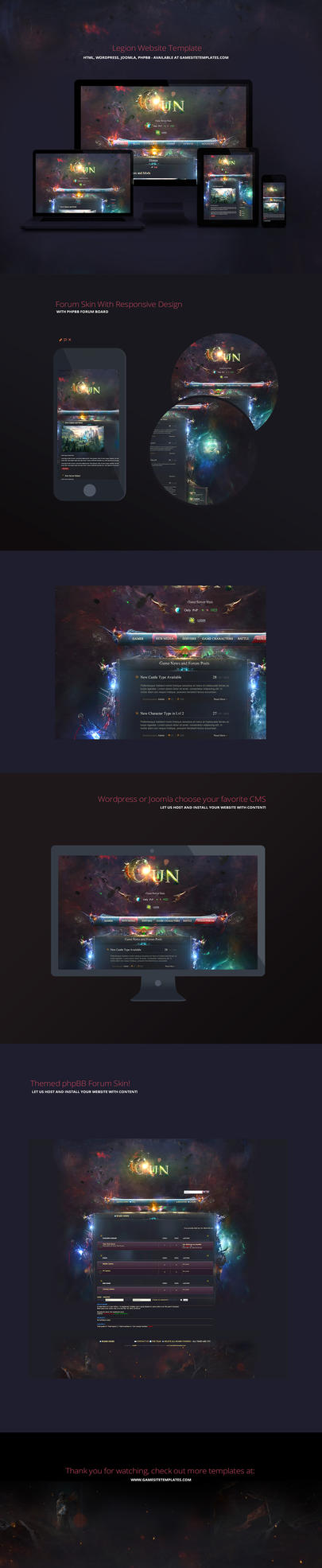 Aurora Game Website Template by karsten