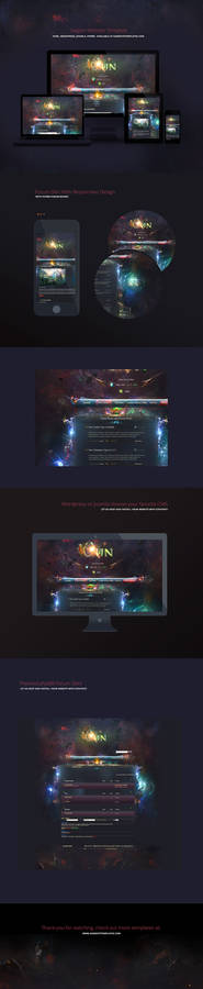Aurora Game Website Template