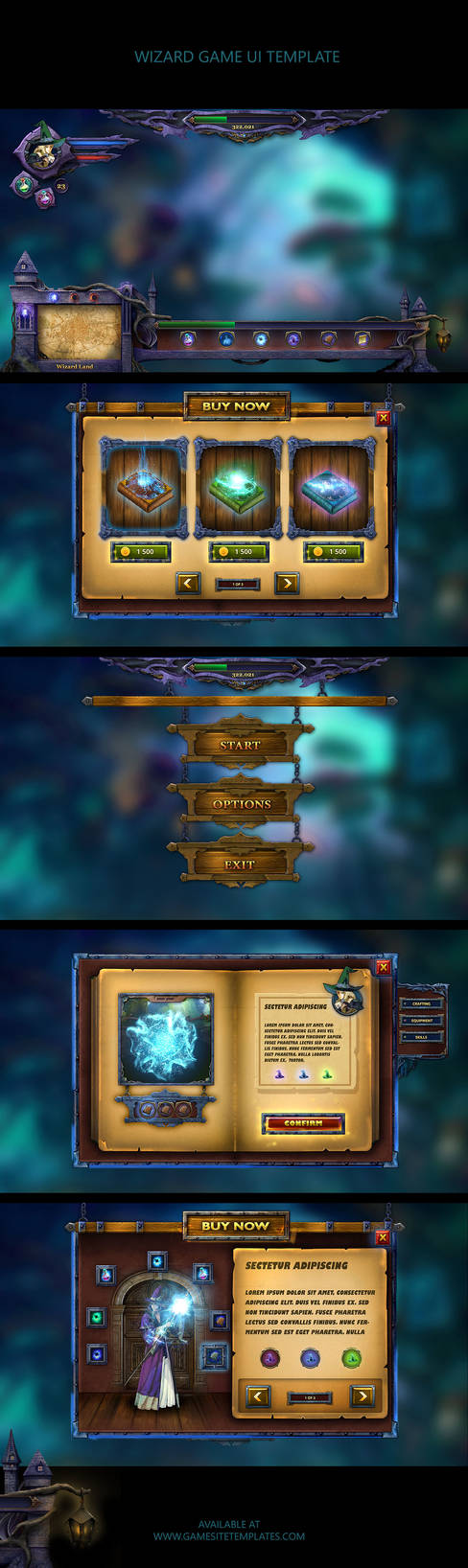 Wizard-magic-mobile-game-ui-template-collage