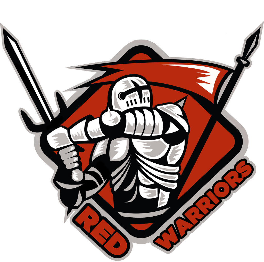 Red Warriors Logo for Sports Activities