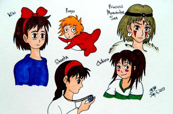 Miyazaki's Characters 1 by RainbowFay