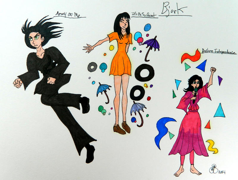 Bjork Doodles by RainbowFay on DeviantArt