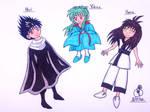 Hiei, Yukina, And Hana by RainbowFay