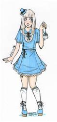 Little blue dress by Rakuene