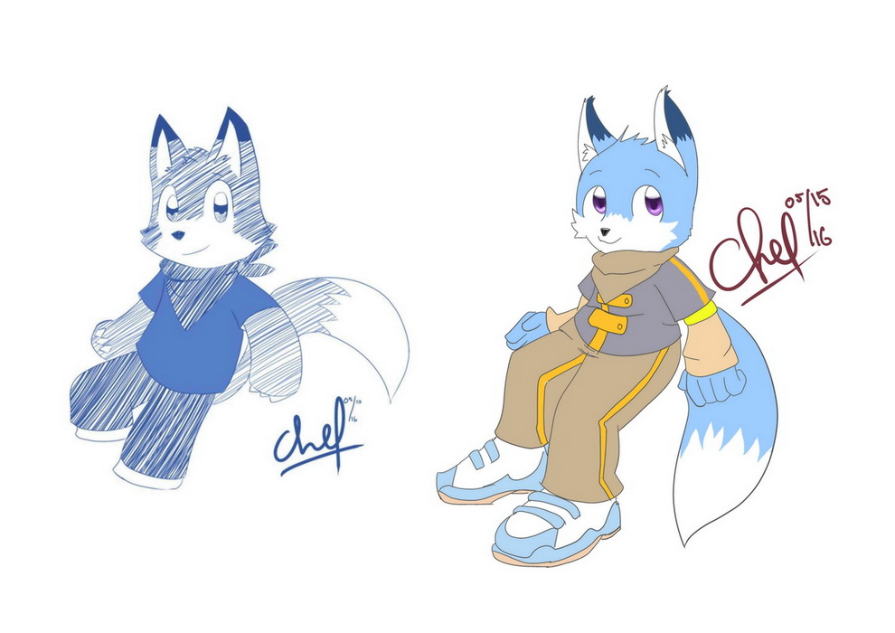 Pidhy the blue fox by chef-cheiro