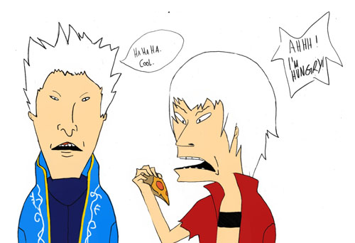 DMC meats Beavis and Butthead by XMenouX