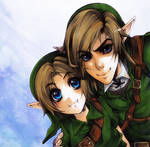 Zelda - Link and young Link