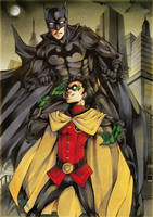 Batman and Robin by XMenouX
