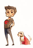 superboy and krypto by XMenouX