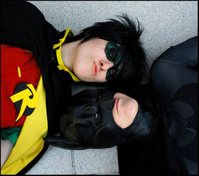 batman and robin cos xD by XMenouX