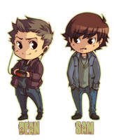 Sam and Dean Winchester by XMenouX