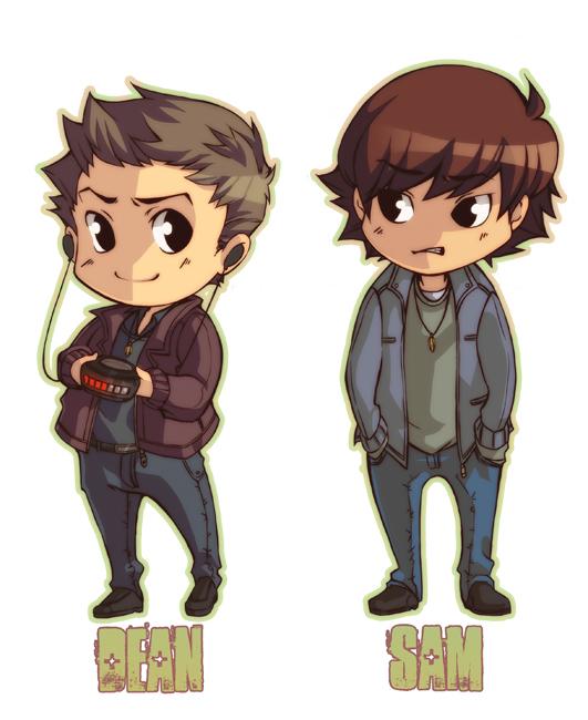 Sam And Dean Winchester By Xmenoux On Deviantart
