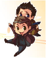 Cas and Dean flying by XMenouX