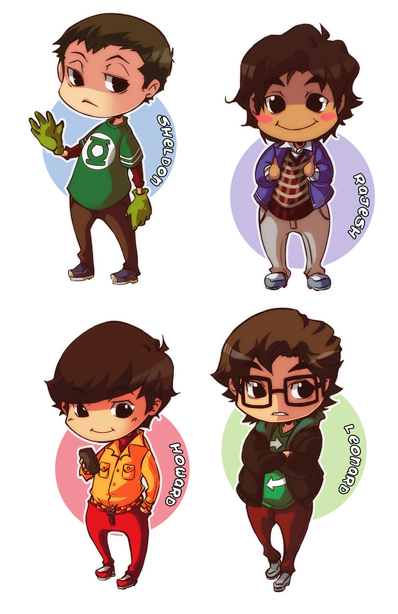 the big bang theory chibis by xmenoux on deviantart
