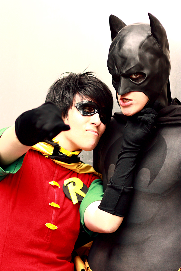 Batman and Robin cosplay by XMenouX