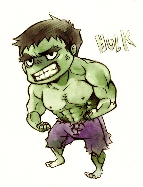 Chibi Hulk by XMenouX