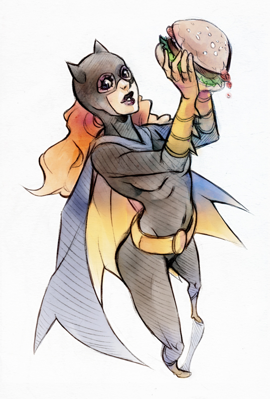 Babs with Burger XD by XMenouX