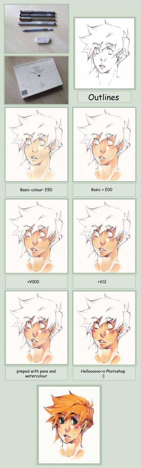 Copic Skin Tutorial by XMenouX