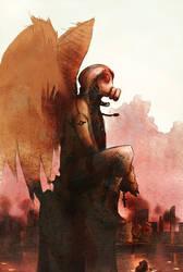 gasmask angel by XMenouX