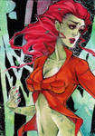 poison ivy aceo by XMenouX