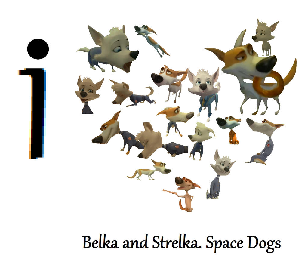 Belka and strelka space dogs heart by freeozi