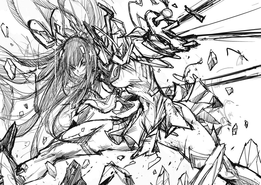 Satsuki! rough sketch work by Andres-Blanco
