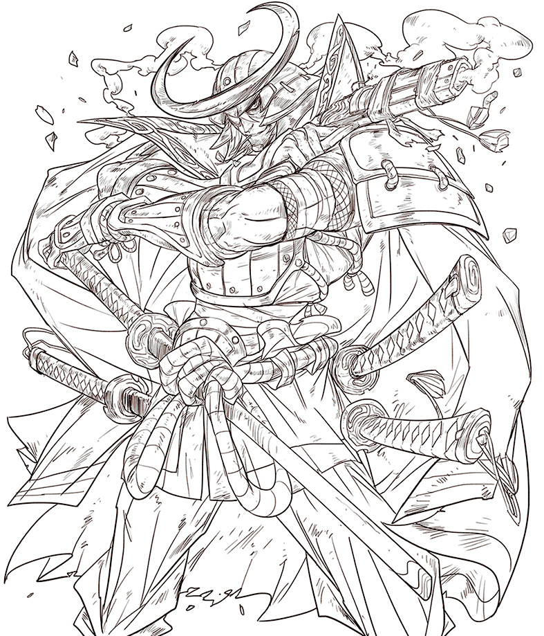Date Masamune-Pencils. by Andres-Blanco