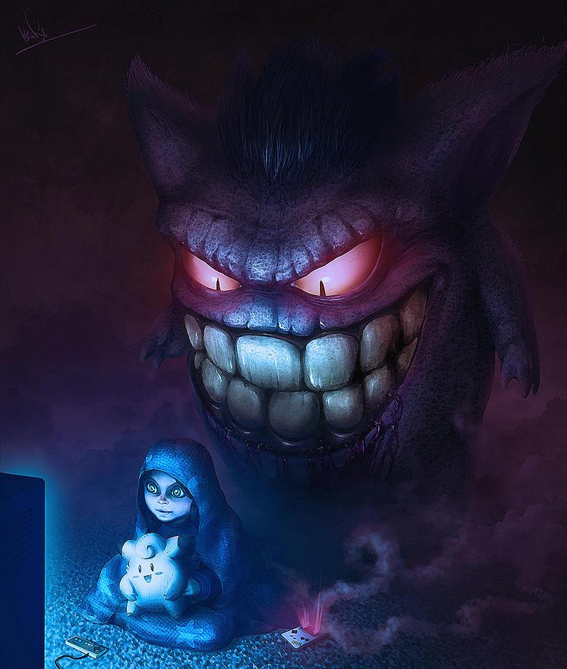 Creepy Gengar by Facu-Moreno