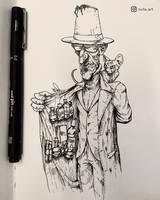 Dealer - Inktober by Facu-Moreno